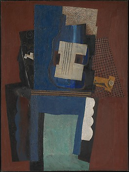 Guitar and Clarinet on a Mantelpiece, Picasso, courtesy of the MET